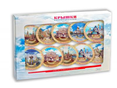 Коллекционные крышки «МОСКВА» «Москвичка» в сувенирном наборе