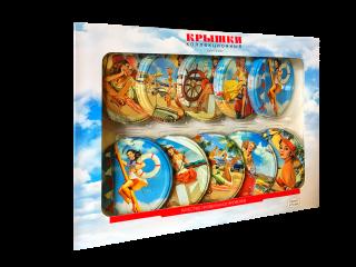 Коллекционные крышки «РЕТРО» «Москвичка» в сувенирном наборе